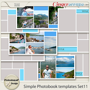 Simple Photobook templates Set 11