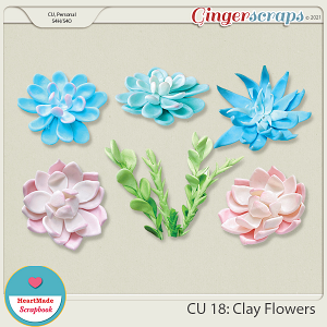 CU 18 - Clay flowers
