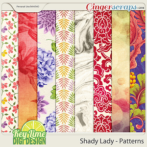 Shady Lady Patterned Papers by Key Lime Digi Design