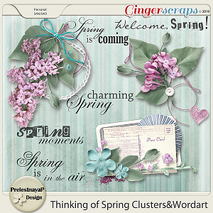 Thinking of Spring Clustesr&Wordart