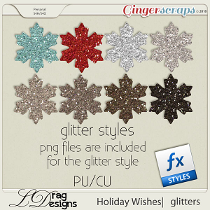 Holiday Wishes: Glitterstyles by LDragDesigns