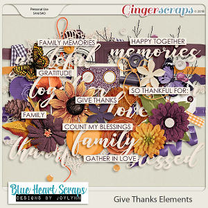 Give Thanks Element Pack
