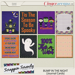 Bump In The Night Journal Cards