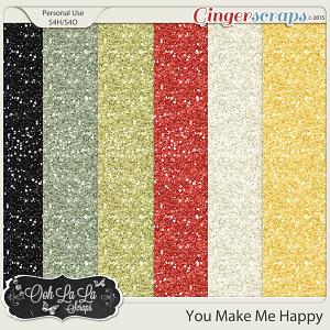You Make Me Happy Glitter Sheets