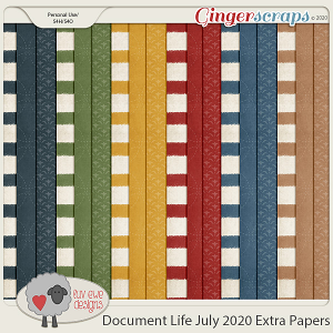 Document Life July 2020 Extra Papers by Luv Ewe Designs