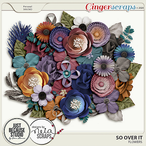 So Over It Flowers by JB Studio and Neia Scraps