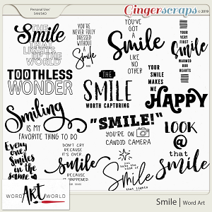 Smile Word Art