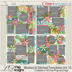 Blocked & Stitched Templates Vol.10 by LDrag Designs