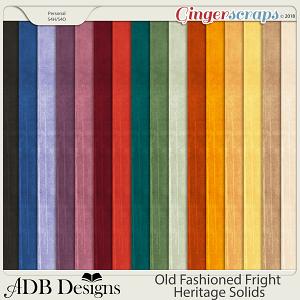 Old Fashioned Fright Heritage Cardstock Solids by ADB Designs
