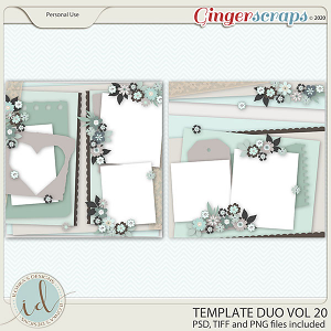 Template Duo Vol 20 by Ilonka's Designs