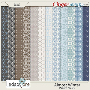 Almost Winter Pattern Papers by Lindsay Jane