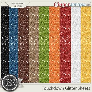 Touchdown 12x12 Glitter Sheets