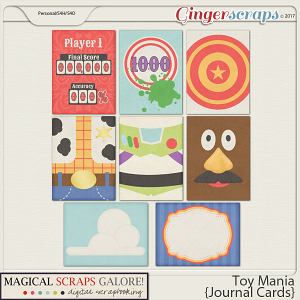Toy Mania (journaling cards)
