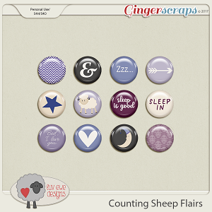 Counting Sheep Flairs by Luv Ewe Designs