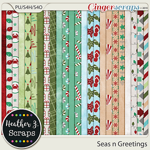 Seas n Greetings PAPERS by Heather Z Scraps