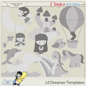 Doodles By Americo: Lil Dreamer Templates