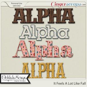 It Looks A Lot Like Fall Alphabets