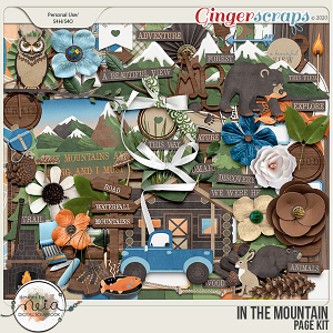 In The Mountain - Page Kit - by Neia Scraps
