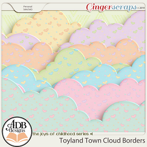 Toyland Town Cloud Borders by ADB Designs