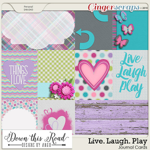 Live. Laugh. Play Journal Cards