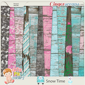 Snow Time Wood Papers
