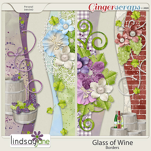 Glass of Wine Borders by Lindsay Jane