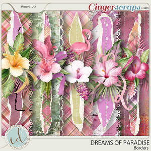 Dreams Of Paradise Borders by Ilonka's Designs