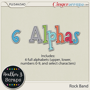 Rock Band ALPHABETS by Heather Z Scraps