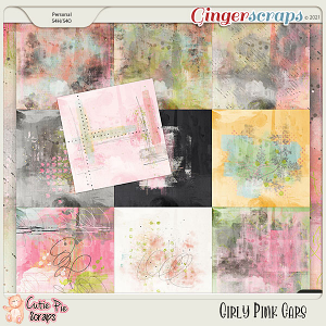Girly Pink Cars Painted Papers