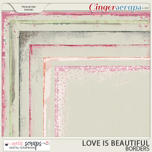 Love is Beautiful - Borders - by Neia Scraps