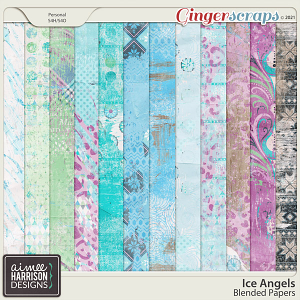 Ice Angels Blended Papers by Aimee Harrison