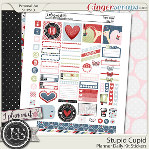 Stupid Cupid Planner Daily Kit