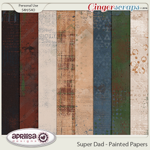 Super Dad - Painted Papers by Aprilisa Designs