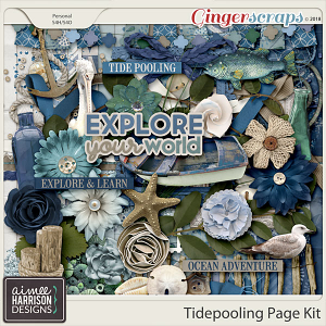 Tidepooling Page Kit by Aimee Harrison