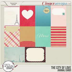 On Location: The City of Love - Journal Cards- by Neia Scraps