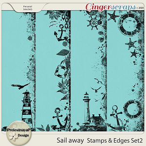 Sail away Stamps & Edges Set2