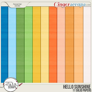 Hello Sunshine - Solid Papers - by Neia Scraps