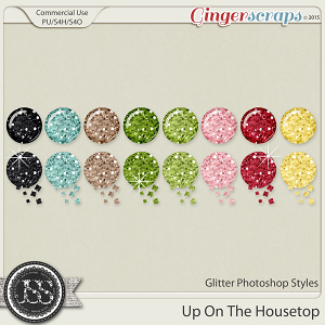 Up On The Housetop Glitter Photoshop Styles