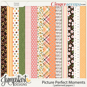 Picture Perfect Moments {Patterned Papers}