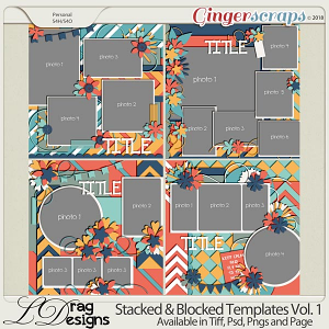 Stacked & Blocked Templates Vol. 1 by LDRag Designs