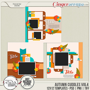 Autumn Cuddles - Templates VOL 4 - by Neia Scraps and JB Studio