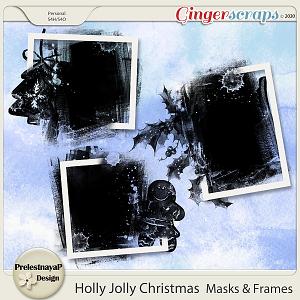 Holly Jolly Christmas Masks & Frames