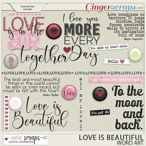 Love is Beautiful - Word Art - by Neia Scraps