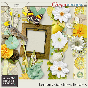 Lemony Goodness Borders by Aimee Harrison