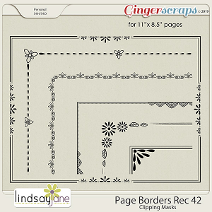 Page Borders Rec 42 by Lindsay Jane