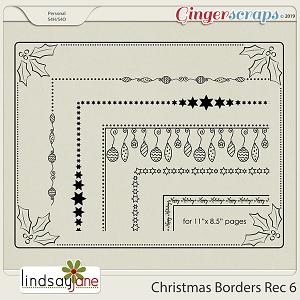 Christmas Borders Rec 6 by Lindsay Jane