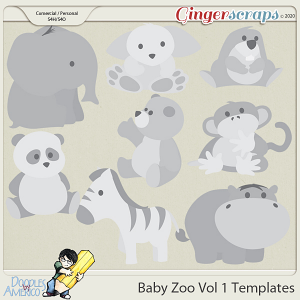 Doodles By Americo: Baby Zoo Vol 1 Template