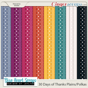 30 Days of Thanks Plain & Polka Papers