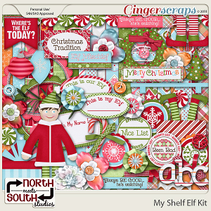 My Shelf Elf Kit by North Meets South Studios