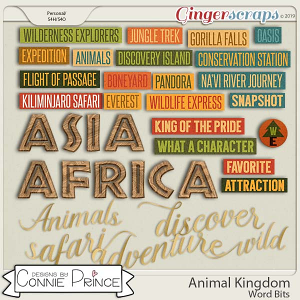 Animal Kingdom - Word Bits by Connie Prince